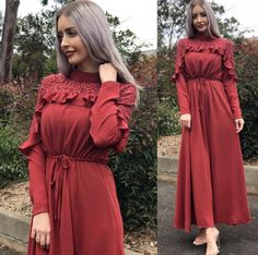 for this Tailer fit designer wear Abaya Fashion, Muslim Fashion, Modest Fashion, Boho Fashion, Fashion Dresses, Korean Fashion, Winter Fashion, Modest Outfits, Dress Outfits