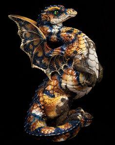 "WINDSTONE ""BANANA ORANGE TIGER #1"" RISING SPECTRAL DRAGON FIGURINE, STATUE #ebay #collectables #fantasyart"