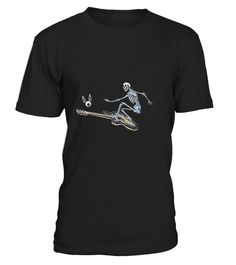 """# Guitar Surfing Skeleton Shirt .  100% Printed in the U.S.A - Ship Worldwide*HOW TO ORDER?1. Select style and color2. Click """"Buy it Now""""3. Select size and quantity4. Enter shipping and billing information5. Done! Simple as that!!!Tag: guitar, Guitarist, heavy metal, hard rock, the blues, or folk music, electric guitar shirt, Acoustic"""