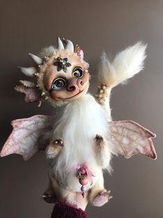 Teddyblythe Dragon OOAK Custom Blythe Doll   Etsy Crystal Dragon, Dragon Art, Blythe Dolls, Crow, Art Dolls, Fantasy Art, Creatures, Handmade, Etsy