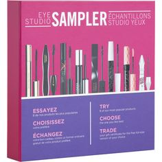 Try 8 of our most popular products. Choose the one you like the best. Trade your gift certificate for the free full size version of your choice. Once you've tried the 8 deluxe samples, take the gift certificate to any participating Shoppers Drug Mart location for a complimentary full size of your favourite product from the box.