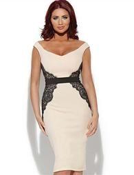 Women's  Designer Label Side Lace Slim Fit Knee-length Formal Wear Dress