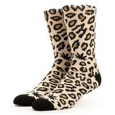 Odd Future Domo Cheetah Tan Crew Socks