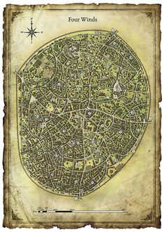D&D city, tabletop map Fantasy City Map, Fantasy World Map, Imaginary Maps, Village Map, Rpg Map, Medieval, Adventure Map, Dungeon Maps, City Maps