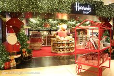 Inside Harrods Christmas World · All Things Christmas Christmas Shop London, Harrods Christmas, Christmas World, Santa Christmas, All Things Christmas, Christmas Shopping, London Decor, Christmas Tree Decorations, Table Decorations