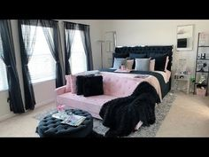 Dressing Up My Master Bedroom Pink Black Bedrooms, Pink And Silver Bedroom, Black And Grey Bedroom, Black Master Bedroom, Fancy Bedroom, Pink Bedroom Decor, Gold Bedroom, Stylish Bedroom, Room Ideas Bedroom