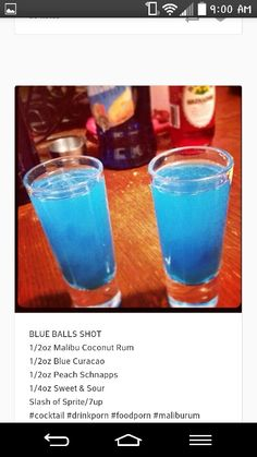 Drinks alcohol bars blow shots job