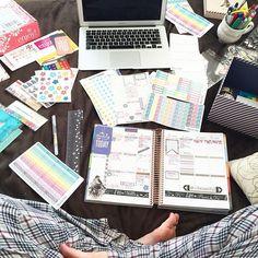 Getting my Saturday night on!  #eclp #erincondren #erincondrenlifeplanner #planneraddict #unboxing #rosegold #planner #eclove #plannernerd #plannerlove #weloveec #plannergeek #plannergirl #plannerlife #planneraddict #plannerjunkie #washi #lifeplanner #stickers #week1 by plannerallie