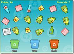 Le jeu Recycle vous donne une minute pour trier le plus déchets possible.Trois bacs se trouvent en bas de l'écran. Chacun leur tour, ils sont entouré d'une ligne jaune, c'est à ce moment-là que vous devez cliquer sur les déchets correspondants - http://www.jeuxflashgratuits.fr/Jeux-Advergame/Recycle,2085.html