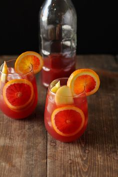 Winter Sangria with Pomegranate, Blood Oranges, and Apples   theroastedroot.net #cocktail #wine #recipe @roastedroot