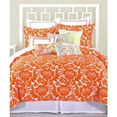 orange /orange print king size comforter sets | Trina Turk Louis Nue Queen Comforter Set