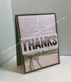 Stampin' Fun with Diana: Hand Stamped Sentiments Color Challenge and Stylin' Stampin' INKspiration Stamp Set Focus: Dictionary