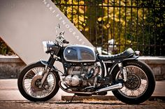 Not a BMW person but this BMW custom motorcycle is gorgeous!