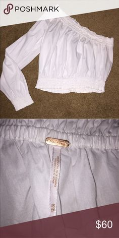Free People one shoulder top One shoulder, super cute but is too big on me! Brand new without tags! Perfect condition. Says XS but fits more like a S, maybe even a M Free People Tops