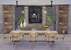 The Sims Models: Dining room sets by Milana&Granny Zaza • Sims 4 Downloads