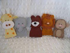 finger puppets zoo set
