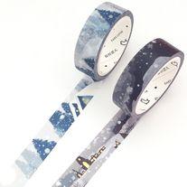 Lovely+washi+tapes+of+snow+theme    Quantity:+1+pc+/+2+pcs  Size:+15+mm(W)+x+7+m(L)