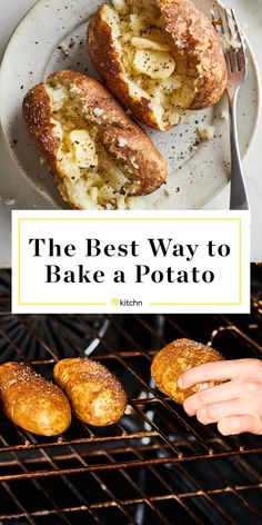 How To Bake a Potato in the Oven - Potato Recipes Perfect Baked Potato, Baked Potato Oven, Baked Potato Recipes, Grilled Baked Potatoes, Loaded Baked Potatoes, Potato Dishes, Food Dishes, Side Dishes, Vegetable Dishes
