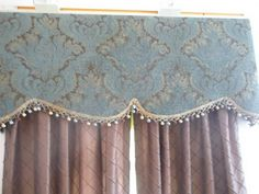 Dark Color Custom Window Valances Ideas