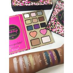 Too faced x Nikki  Power of makeup swatches!! $56  buy at Sephora, Ulta and toofaced.