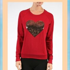 Red sequin heart top I have new in small med and large Sweaters