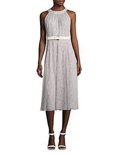 Tommy Hilfiger - Belted Halter Dress