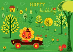 Birthday Lion by Amy Blay