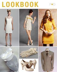 1960's Mod wedding inspiration board...