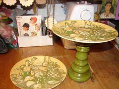 Upcycled Vintage Plate Cupcake/Fruit/Food by NopalitoVintageMore, $45.00