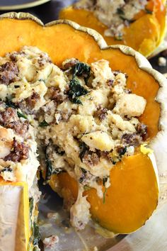 Easy to veganize :Recipe: Savory Stuffed Pumpkin with Sausage and Gruyère — 5 Festive Pumpkin Recipes from Nealey Dozier Pumpkin Recipes Side Dish, Pumkin Recipes, Savory Bread Puddings, Healthy Pumpkin, Vegan Pumpkin, Pumpkin Spice, Pumpkin Pumpkin, Pumpkin Bread, Stuffed Pumpkin