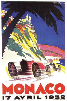 Affiche Grand Prix de Monaco 1932 - Robert Falcucci (1900-1989) - simi25