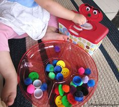 Adorable feed the monster fine motor activity | Powerful Mothering