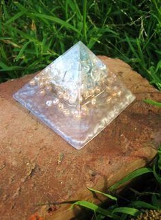 Aqua Aura Ethereal Orgone Pyramid by TwoChez on Etsy, $29.00
