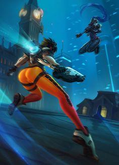 General 1500x2078 Overwatch Tracer (Overwatch) Widowmaker (Overwatch)