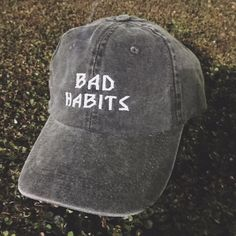 bad habits hat twill cap hat dad hat mom hat baseball style hat by AlwaysAgain on Etsy https://www.etsy.com/listing/258050239/bad-habits-hat-twill-cap-hat-dad-hat-mom