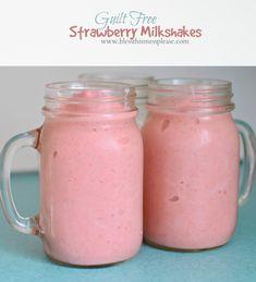 Guilt Free Strawberry Milkshakes for the win!