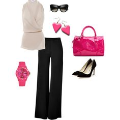 love the fuchsia pop!, created by mmmoritz on Polyvore