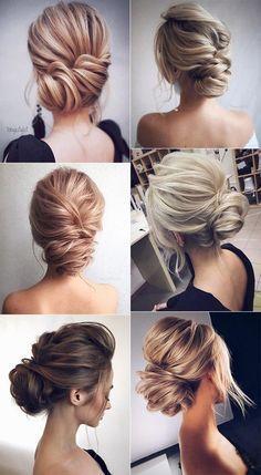 elegant updo wedding hairstyles for 2018 #weddinghairstyles