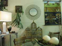 Loving the ostrich eggs and prehistoric wall plants.  This room was a ton of fun to design and assemble