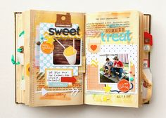 happy little moments altered book | altered book: happy little moments by deb duty | Art Journal