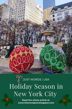 Christmas Travel, Nyc Christmas, Holiday Travel, Travel Inspiration, Travel Ideas, Travel Guide, Usa Holidays, New York City Travel, Holiday Market