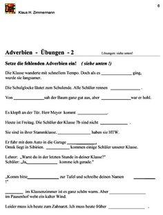 Die 15 Besten Bilder Von Adverbien German Language Teaching Und