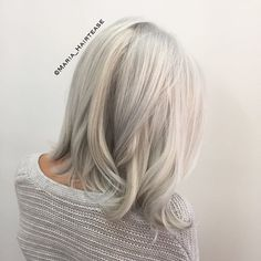 Iced silver blonde  Color•cut by me