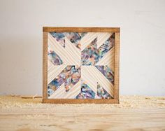 "Reclaimed Wood Wall Art - 11"" x 11"" x 1.5"" - Mixed Colors"