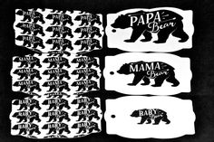 Bear Family Gift Tags, Mama Bear, Papa Bear, Baby Bear, Mommy, Daddy, Baby, Tags, Presents, Gifts, Family,Mother's Day,Father's Day,Birthday by TheArtOfCreativityCo on Etsy Purchase Card, Family Gifts, Fathers Day, Gift Tags, Daddy, Presents, Bear, Store, Handmade Gifts