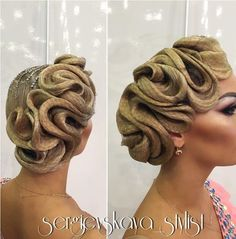 Ballroom hair by Sergievskaya Anastasia Perfectly styled hair is an important part of the overall look for ballroom dance competitors. Dance Hairstyles, Funky Hairstyles, Vintage Hairstyles, Braided Hairstyles, Wedding Hairstyles, Ballroom Dance Hair, Competition Hair, Hair Shows, Hair Designs