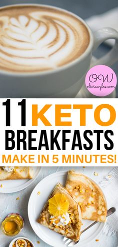 Here are 11 keto breakfast recipes you can easily make in 5 minutes or less! These keto recipes are the best! Keto breakfasts on the go are the easiest to throw together on a weekday. Enjoy these great low carb keto breakfasts! Healthy Recipes, Ketogenic Recipes, Low Carb Recipes, Diet Recipes, Quick Recipes, Slimfast Recipes, Healthy Facts, Diet Tips, Delicious Recipes
