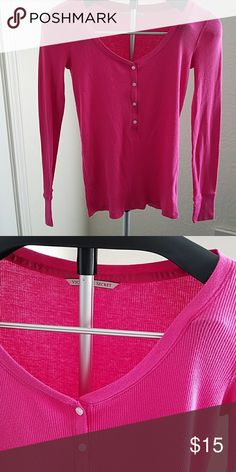 Victoria's Secret Pink thermal top GUC pink PINK Victoria's Secret Tops
