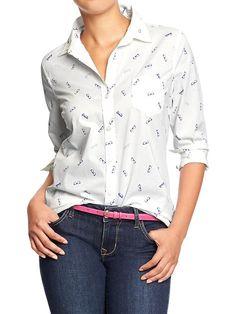 Women's Poplin Shirts Product Image
