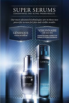 Lancome Super Serums..The 2 that I will be using till the day I die, yes they're expensive but totally worth it!